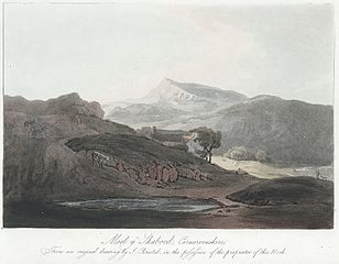 Moel y Shaboed, Carnarvonshire : From an original drawing by J. Christal. in the possession of the proprietor of this Work