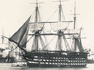 French ship Montebello (1812) - Image: Montebello in 1850