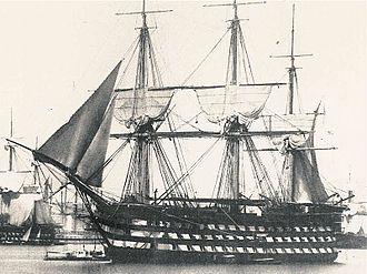 Océan-class ship of the line - ''Montebello'', circa 1850