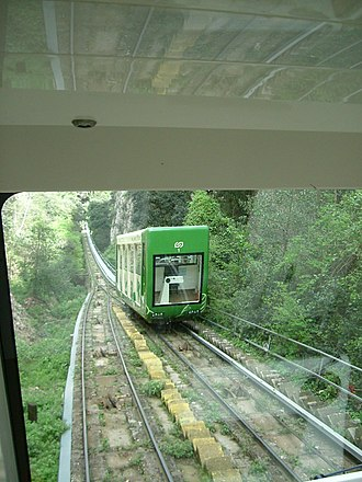 Sant Joan Funicular - Cars of the Sant Joan funicular