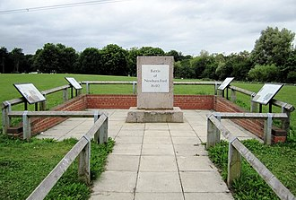 Newburn - A monument commemorating the Battle of Newburn at Newburn Country Park