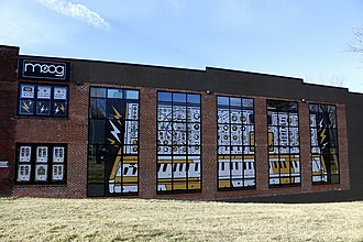 Moog Music - Exterior of Moog Music building in Asheville, NC