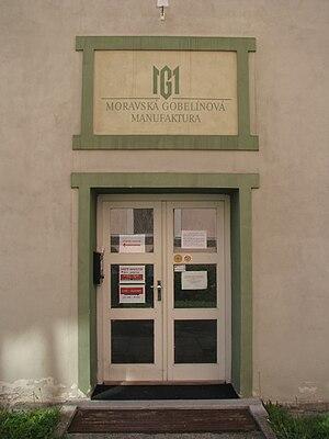 Moravská gobelínová manufaktura - The entrance door to the Manufactory
