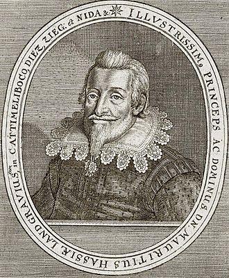 Maurice, Landgrave of Hesse-Kassel - Portrait of Maurice of Hesse-Kassel from the work Theatrum Europaeum (1662).