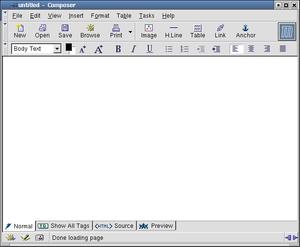 Mozilla Composer - Image: Moscompos