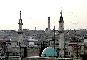 English: Mosques in Hama, Syria Français : Mos...