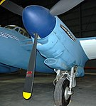Mosquito engine nacelle detail, National Museum of the US Air Force, Dayton, Ohio, USA. (46451677362).jpg