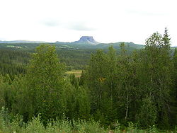 "View of Hattfjell (""hat mountain"")"