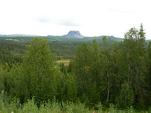 "Hattfjelldal - View of Hattfjell (""hat mountain"")"
