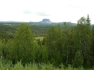 """Hattfjelldal - View of Hattfjell (""""hat mountain"""")"""