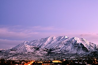 Mount Timpanogos - Mt. Timpanogos from Provo