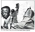 Mr festus Mogae being sworn in by chief Julian Nganunu April 1 1998.jpg