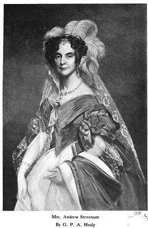 Andrew Stevenson - Sarah Coles Stevenson, Andrew Stevenson's wife