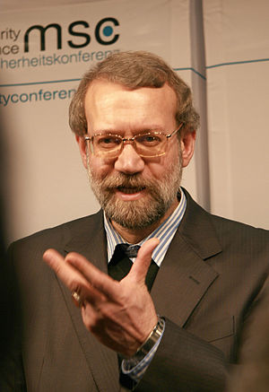 Iranian legislative election, 2012 - Image: Msc 2009 Friday, 16.00 19.00 Uhr Dett 007 Larijani