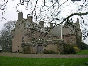 L-plan castle - Muchalls Castle, Scotland