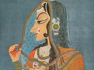 Bani Thani - Image: Mughal painting 2