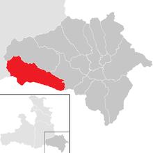 На карті федеральній землі зальцбург