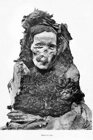 Ahmose-Henutemipet - Mummy of Ahmose-Henutemipet, found in DB320