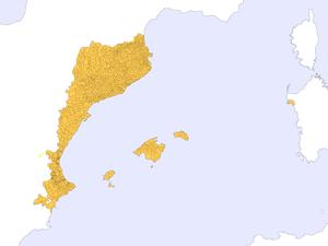 Catalanic Community - Image: Municipis dels Països Catalans