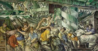 Reginald Marsh (artist) - Sorting the Mail (1936), Mural in the William Jefferson Clinton Federal Building