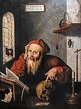 Musée Ingres-Bourdelle - Saint Jérôme dans sa cellule - GAUTARD Philippe , DURER Albrecht (d'après) , VAN CLEVE Joos (d'après) Joconde06070000124.jpg