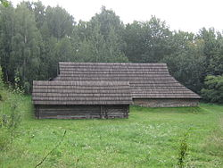 Museum of Folk Architecture and Ethnography in Pyrohiv - old wooden house and log cabin - 2408.jpg