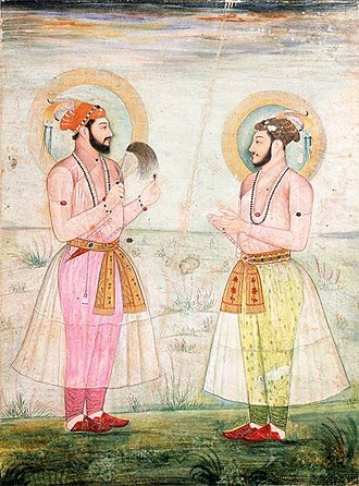 Economy of India - Mughal princes wearing muslin robes in 1665 CE.