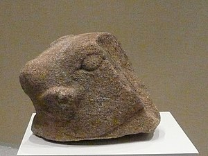 Bujang Valley - Head of Nandi found in the vicinity of site 4 near the Bujang Valley