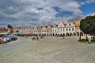 Telč Town in Vysočina, Czech Republic