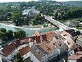 Nürtingen Blick vom Turm zur Neckarbrücke.JPG