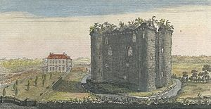 Nunney Castle - Nunney Castle in the 18th century