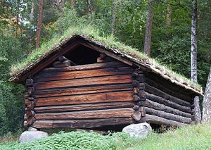 Åseral - Old farm building at the local folk museum