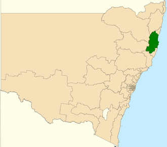 Electoral district of Oxley - Location in New South Wales