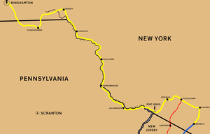 Central New York Railroad - Image: NYSW Mid map