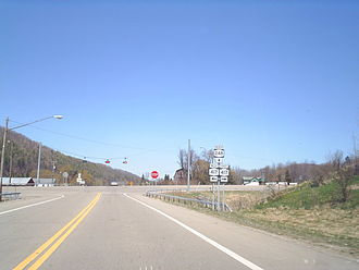New York State Route 248 - Junction of NY 248 and NY 417 north of Greenwood hamlet