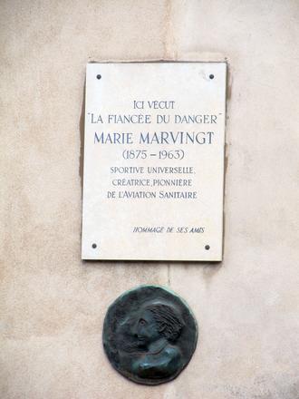 Marie Marvingt - A commemorative plaque in Nancy