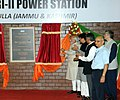 Narendra Modi dedicating the 240 MW Uri-II hydropower project to the Nation by unveiling the plaque, at Uri Baramulla, in Jammu and Kashmir. The Minister of State (Independent Charge) for Power.jpg