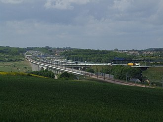 M2 motorway (Great Britain) - Image: Nashenden Valley 5500
