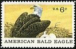 Natural History American Bald Eagle 6c 1970 issue U.S. stamp.jpg