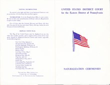 Naturalization Ceremonies Program