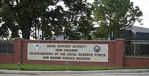 Naval Support Activity New Orleans - Image: Naval Support Activity New Orleans (West Bank) Gate Sign