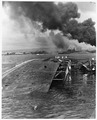 Naval photograph documenting the Japanese attack on Pearl Harbor, Hawaii which initiated US participation in World... - NARA - 296007.tif