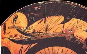 an ancient greek ship
