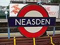 Neasden station roundel.JPG