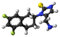 Nepicastat molecule ball.png
