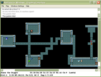 NetHack - Image: Net Hack for Windows Screenshot