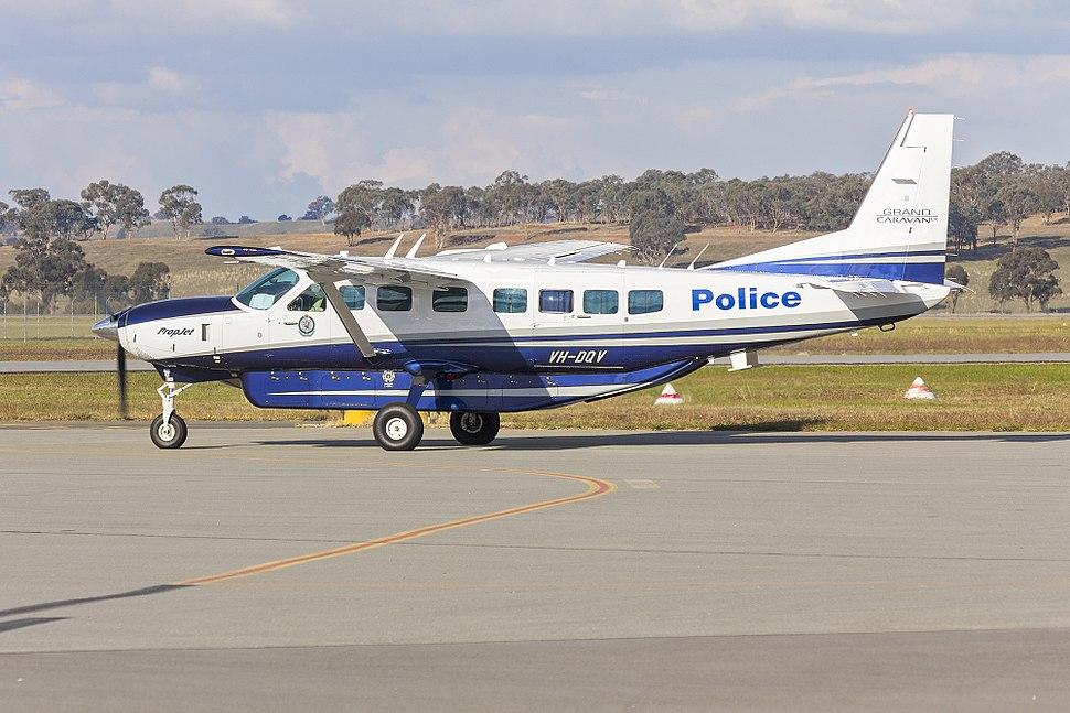 New South Wales Police Force (VH-DQV) Cessna Grand Caravan 208B EX taxiing at Wagga Wagga Airport