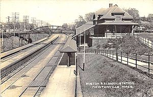 Newtonville station - Newtonville station in the early 1900s