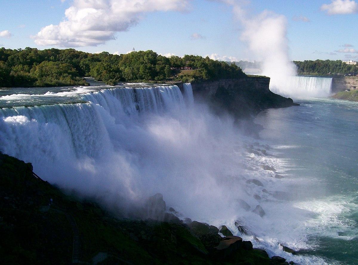 niagarafallen karta Niagarafallen – Wikipedia niagarafallen karta