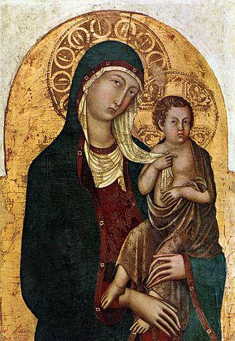 1330s in art - Image: Niccolò di segna, madonna col bambino
